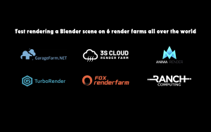 Comparison between 06 render farms supporting Blender